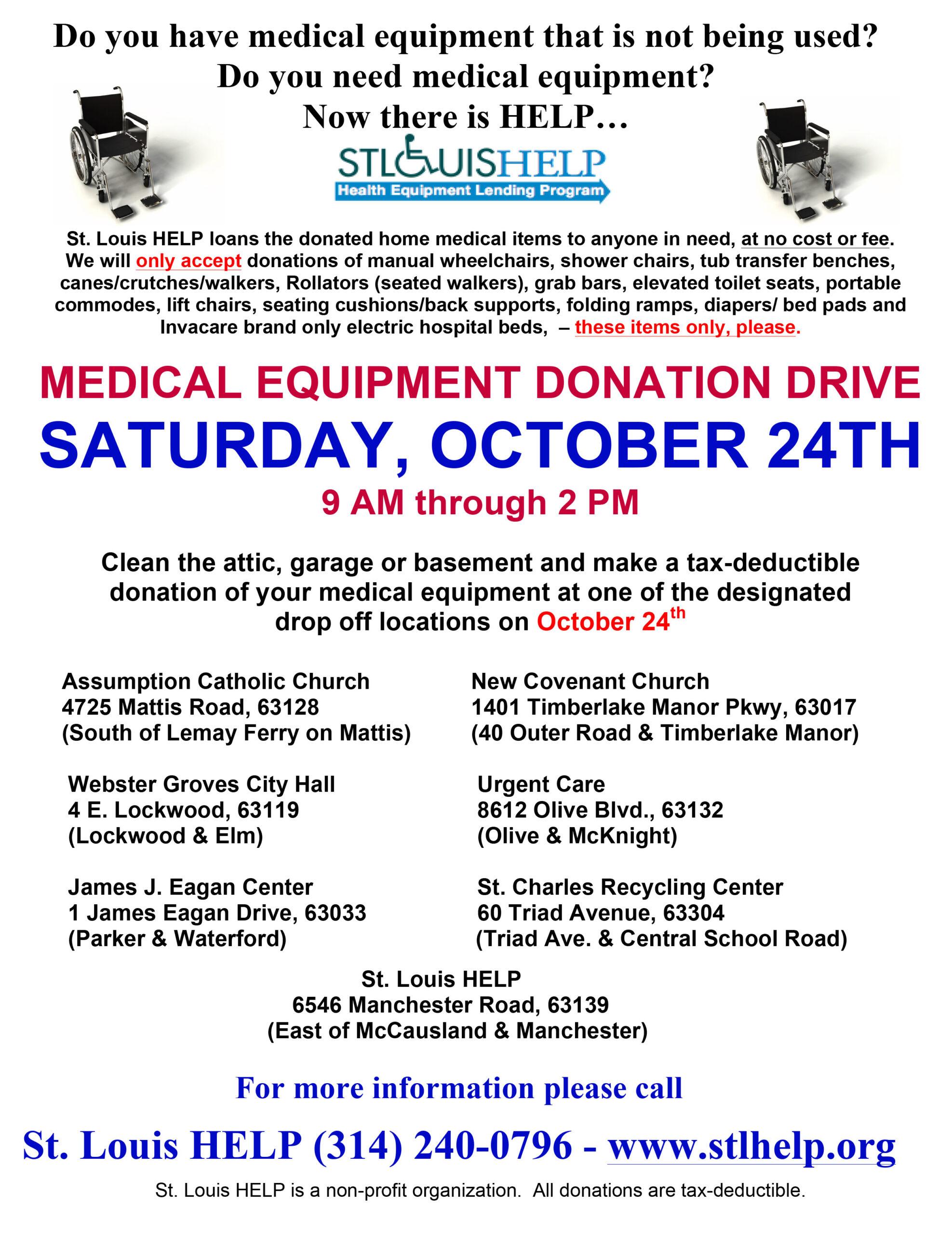 Medical Equipment Donation Drive