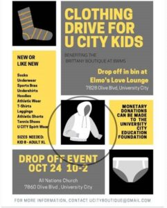 Clothing Drive for U City Kids