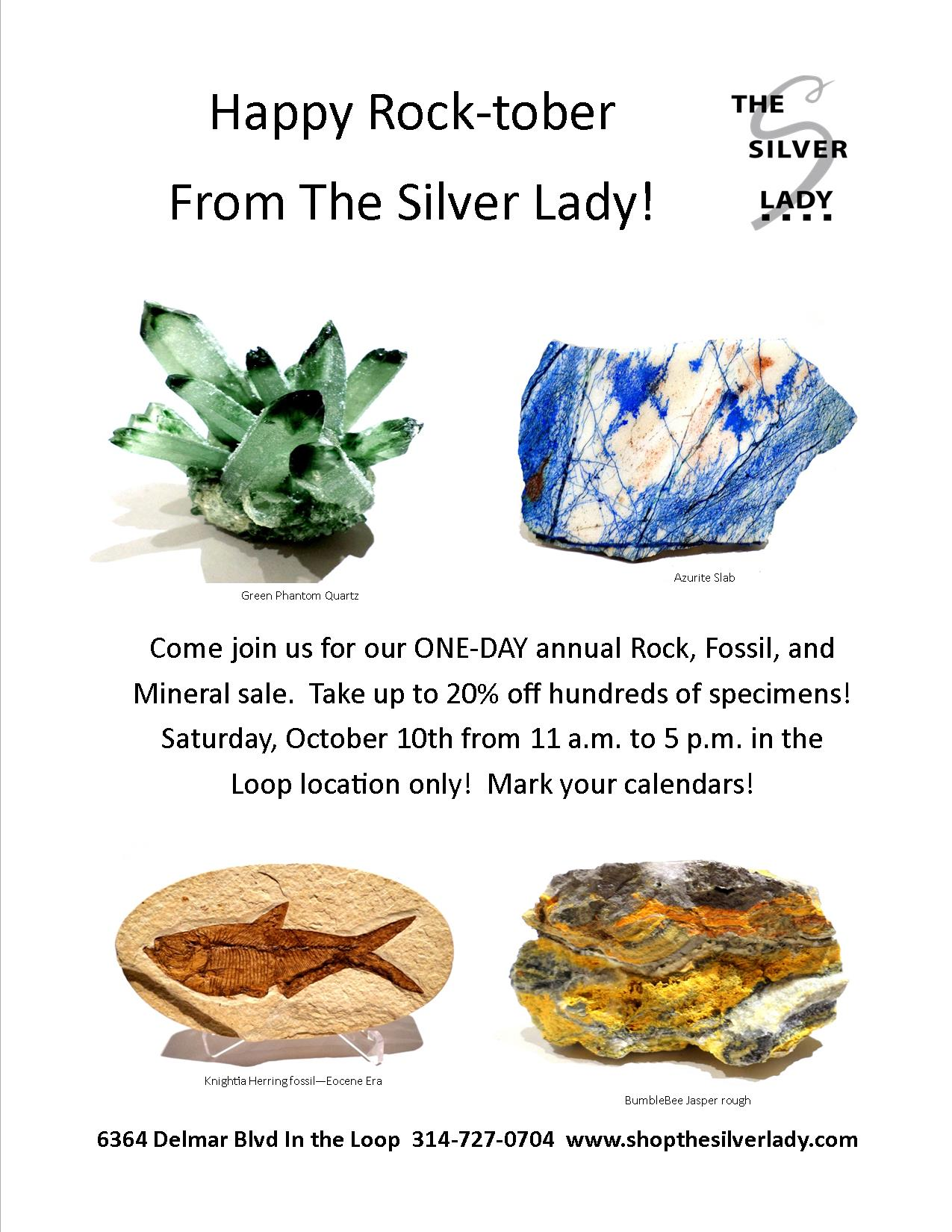 Rock-tober rock sale the Silver Lady